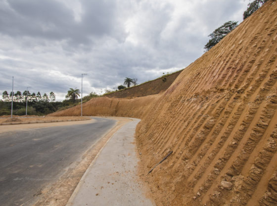 terraplanagem em construção